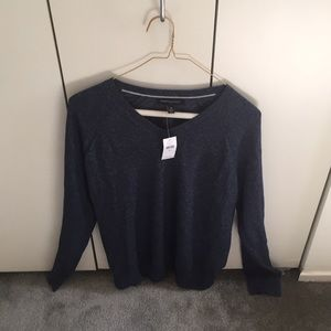 Banana Republic Navy Blue V Neck Sweater.